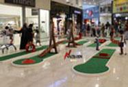 location de mini golf en centre commercial