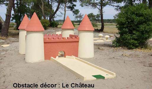 Grand obstacle pour mini-golf : le chateau