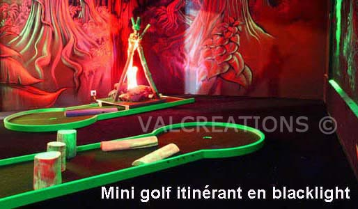 mini-golf blacklight itinerant aluminium