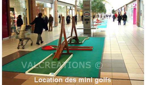 location de mini-golf dans un centre commercial