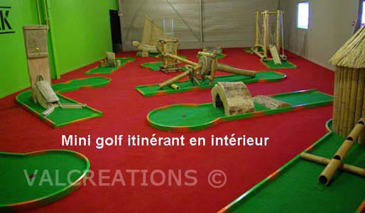 mini-golf interieur en aluminium