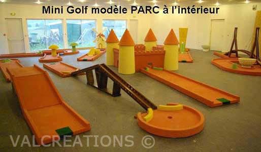 mini-golf interieur en béton