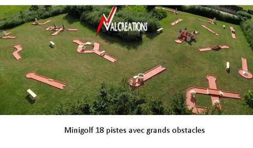 parcours de mini-golf modulable