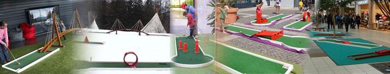 location de mini golf en centre commercial, en évènementiel