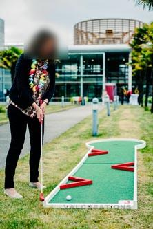 location de mini-golf pour un séminaire d'entreprise.