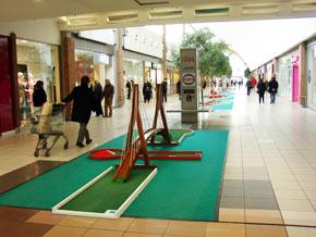 location de mini golf dans un centre commercial