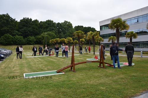 pont suspendu pour mini golf mobiel léger